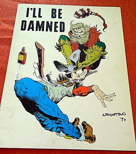 "I'll Be Damned #4 Vol. 11971 - cover, inside cover, ""Out on a Limb"""