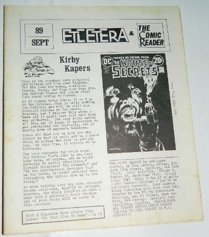 Etcetera and the Comic Reader Vol. #1 #899/1972 - cover