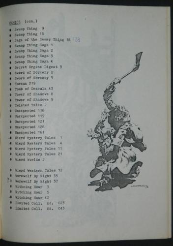 Berni Wrightson Checklist Vol.1