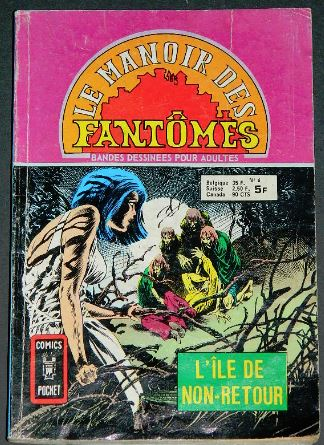 Le Manoir Des Fantomes no.6 - 1976France - coverPocket Book