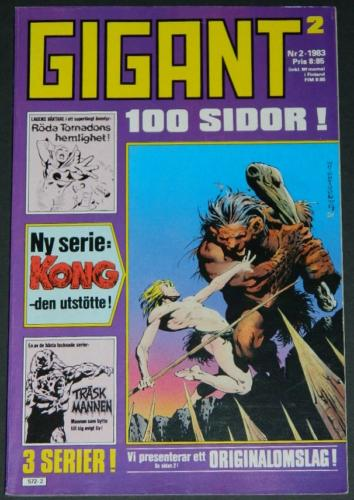Gigant #2Sweden  - 1983cover, Swamp Thing #2 B&W