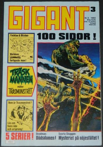 Gigant #3Sweden  - 1983cover, Swamp Thing #3 B&W