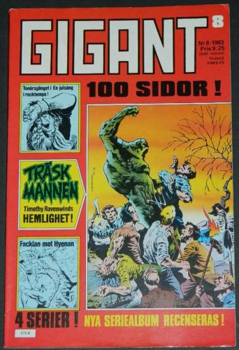 Gigant #8Sweden - 1983cover, Swamp Thing #5 B&W