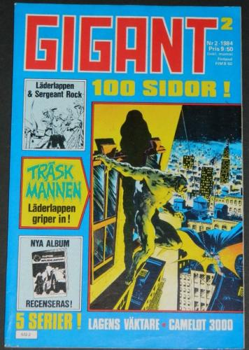 Gigant #2Sweden - 1984Swamp Thing #7 B&W