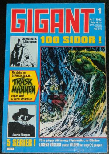 Gigant #1Sweden  - 1983cover, Swamp Thing #1 B&W