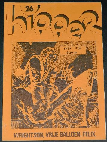 Hipper #26Dutch Jun/July 1975cover, 4 page article w/ small illustrations