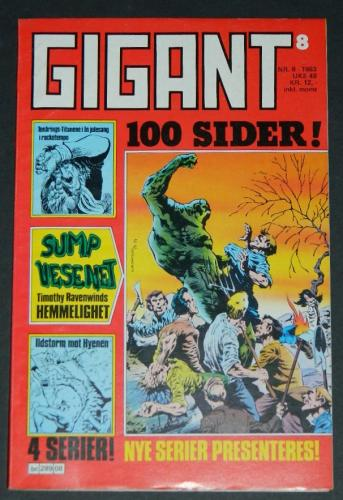 Gigant #8Norway - 1983cover, Swamp Thing #5 B&W