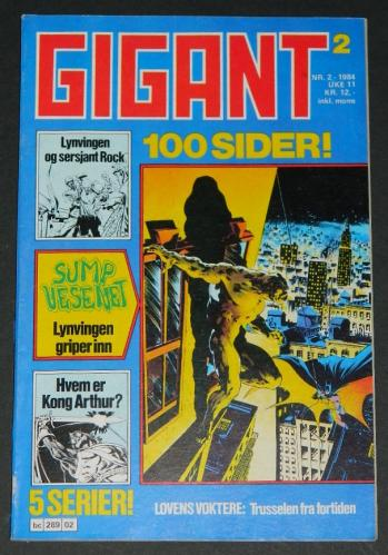 Gigant #2Norway - 1984Swamp Thing #7 B&W
