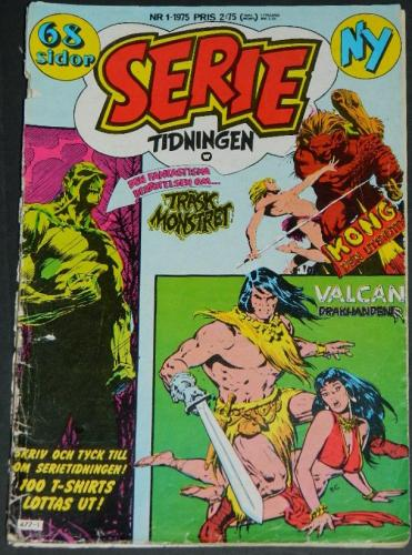 Serie Tidningen Nr1Sweden - 1975part cover, Swamp Thing #1 B&W