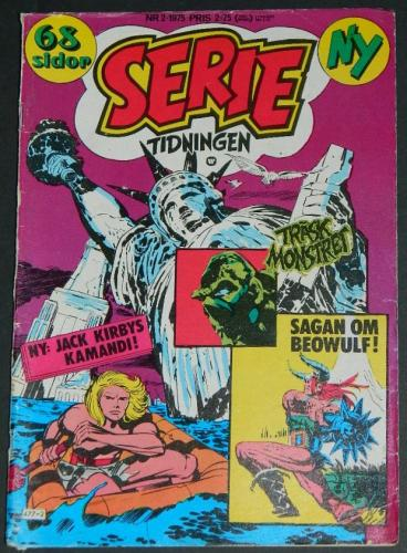 Serie Tidningen Nr2Sweden - 1975part cover, Swamp Thing #2 B&W
