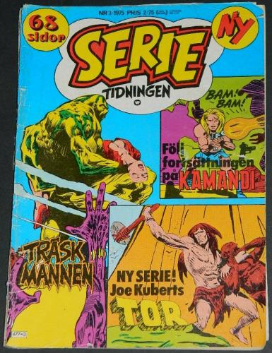 Serie Tidningen Nr3Sweden - 1975part cover, Swamp Thing #3 B&W