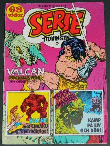 Serie Tidningen Nr4Sweden - 1975part cover, Swamp Thing #4 B&W
