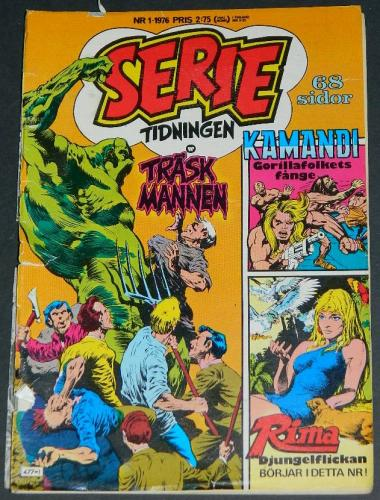 Serie Tidningen Nr1Sweden - 1976part cover, Swamp Thing #5 B&W