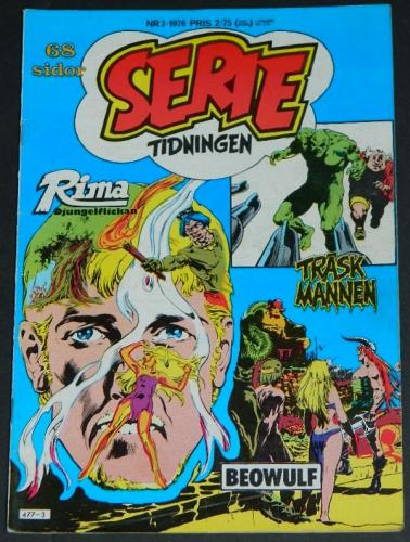 Serie Tidningen Nr3Sweden - 1976part cover, Swamp Thing #6 B&W