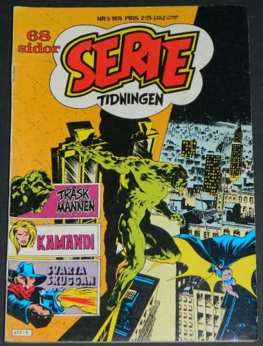 Serie Tidningen Nr5Sweden - 1976part cover, Swamp Thing #7 B&W