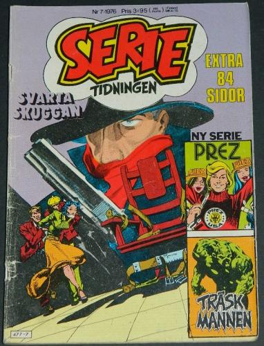 Serie Tidningen Nr7Sweden - 1976part cover, Swamp Thing #8, Shadow #3 B&W