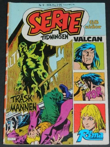 Serie Tidningen Nr9Sweden - 1976part cover, Swamp Thing #9 B&W