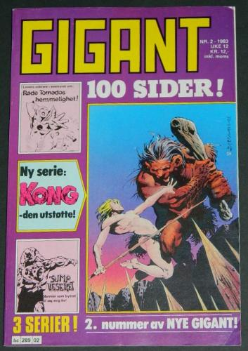 Gigant #2Norway  - 1983cover, Swamp Thing #2 B&W