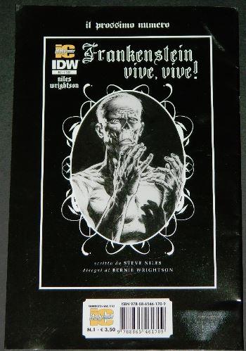 Frankenstein Alive,Alive #1Back cover