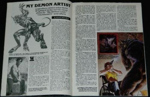 "Fangoria #64""My Demon Artist"""