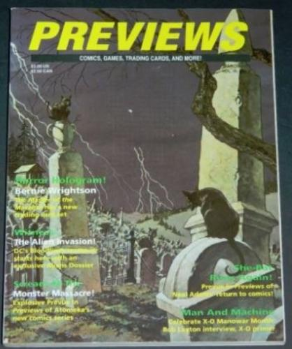 Previews3/93 - cover minus card, 4pg. interview, 3pg. promo