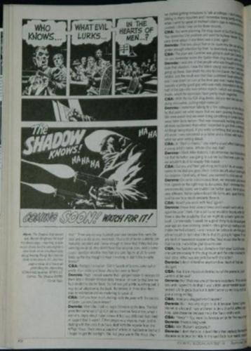 Comic Book Artist #5Shadow ad in article
