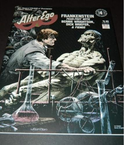 Alter Ego #410/04 cover, 7pg. interview w/ illustrations