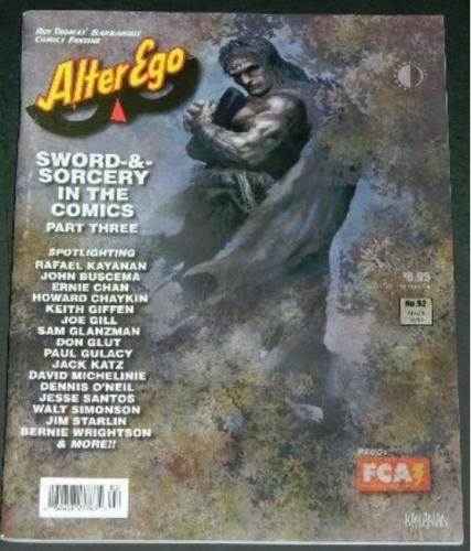Alter Ego #923/10 Sword & Sorcery article