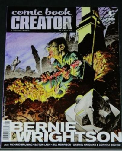 Comic Book Creator #7Winter 2015 cover, interview w/ images