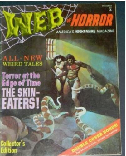"Web of Horror #112/69 ""The Game That Plays You"" inside cover"