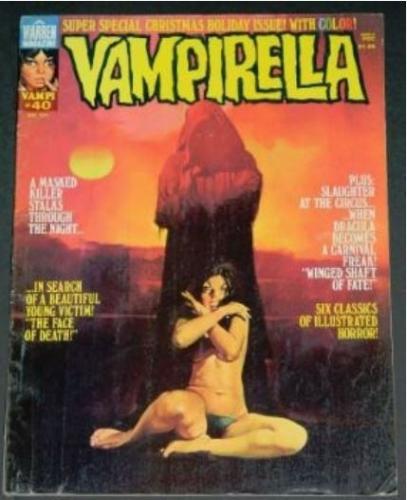 Vampirella #403/75 Vamp'i Vault, bio, illustrations