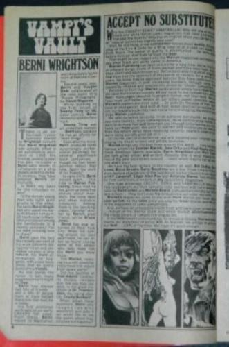 Vampirella #40Vamp'i Vault, bio, illustrations