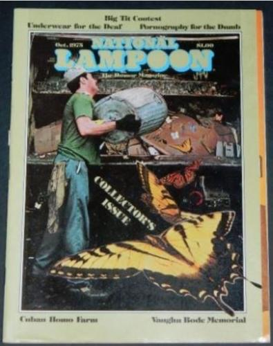 "National Lampoon10/75 ""Thrilling Amazing Fantastic Adventures"" w/Preiss"