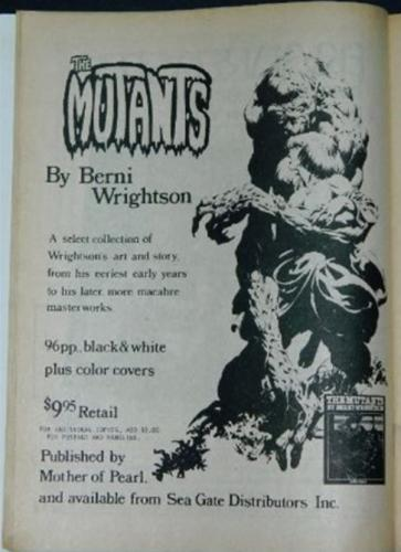 Comics Journal #62Mutants ad