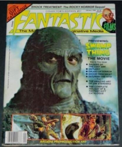 Fantastic #271/82 - 6pgs. Swamp Thing movie article w/ illustrations