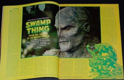 Fantastic #276pgs. Swamp Thing movie article w/ illustrations