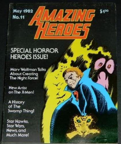 Amazing Heroes #115/82 Swamp Thing article w/ art