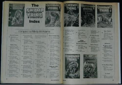 Amazing Heroes #11Swamp Thing article w/ art
