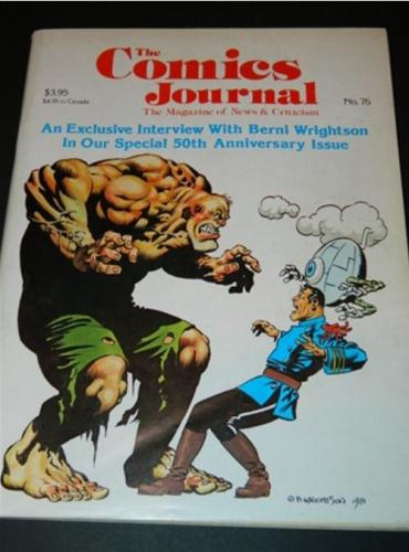 Comics Journal #7610/82 cover, 34pg. interview