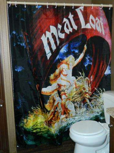 Meat Loaf Dead RingerShower curtain