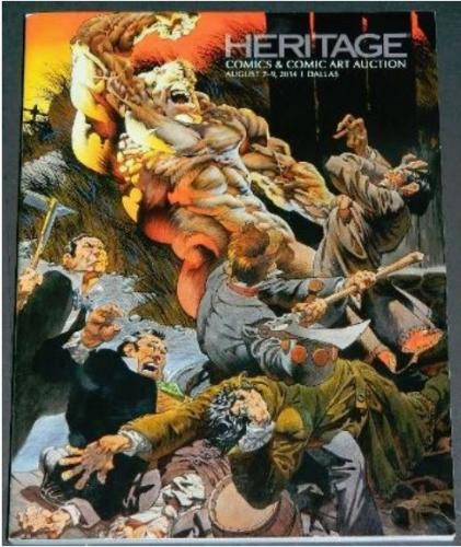 Heritage Auction catalogAug 7-9 2014Cover, interior art
