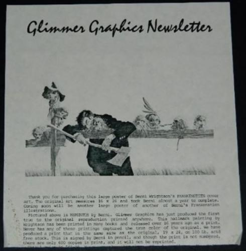 Glimmer Graphics newsletter - Mementos