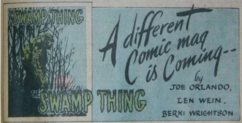 Swamp Thing adSuperboy #189