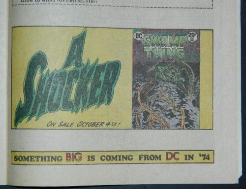 Swamp Thing ad1/4 pg. ad for #8