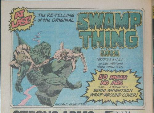 Swamp Thing ad1/4 pg. adSuperboy #230
