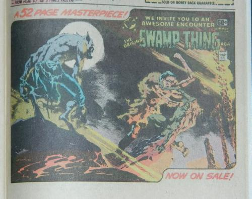 Swamp Thing ad1/4 pg. adWorlds Finest #252