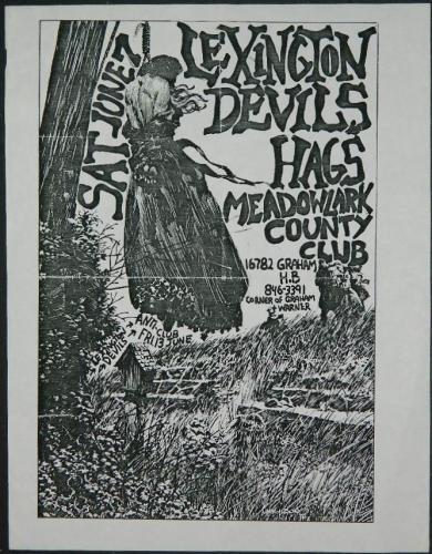 Lexington Devils HagsConcert poster