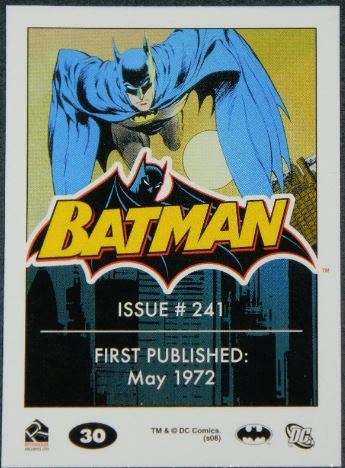 Batman card #30back Issue #241