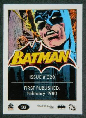Batman card #37back Issue #320