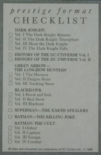 Batman The Cult cardback